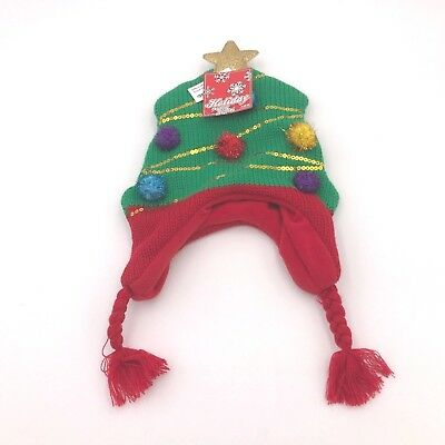 ABG Accessories Kids Unisex Ugly Sweater Christmas Tree Hat