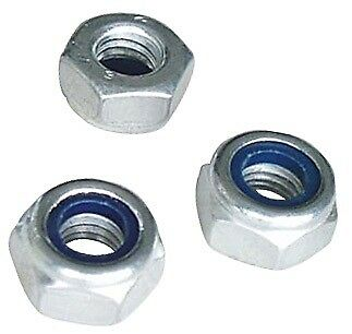 Self Locking Nuts - M10 x 1.5mm Pitch - Pack Of 3