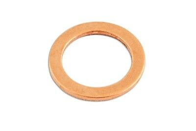 Copper Washers - Sealing - M10 x 14.0mm x 1.0mm - Pack Of 100