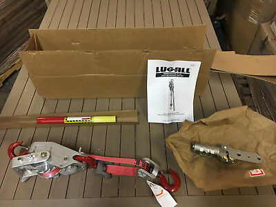 Lug All # 25-A 1 1/2 Ton Web Strap Hoist Lift Come A Long 2008940153 New