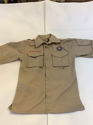 BSA Boy Scouts Of America Short Sleeve Official Uniform Shirt Size Youth M