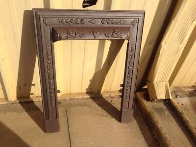 Antique Cast Iron Fireplace Surround Cahill High Relief