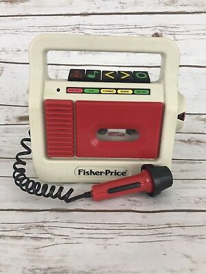 1987 Fisher-Price Cassette Tape Player Microphone record #3808 works vintage