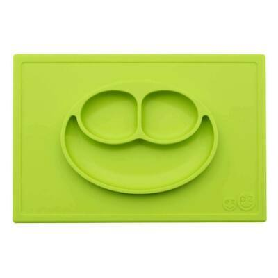 ezpz Happy Mat Toodler Kids Feeding Silicone Placemat Dinnerware - Lime
