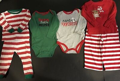 Baby Boy/girl 18 Month Holiday Christmas Clothes And Pajamas Lot