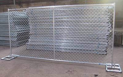 TEMPORARY CHAIN LINK  FENCE PANELS 6x12