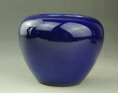 Chinese  blue glaze Porcelain writing-brush washer w jiajing Mark