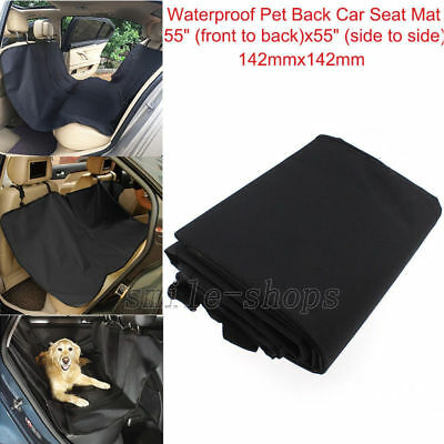 Black Pet Dog Seat Hammock Cover Car Suv Van Back Rear Protector Mat Waterproof