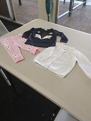 Baby Girl 1 cardigan 4 t/shirts 1 pants singlets and 2 all i onessize 00