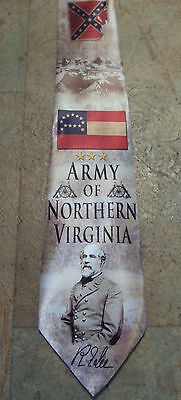 New Army of Northern Virginia poly satin neck tie