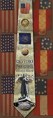 New 155th Pennsylvania Volunteer Infantry poly satin neck tie