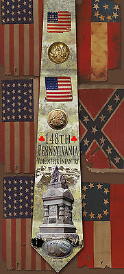 New 148th Pennsylvania Volunteer Infantry poly satin neck tie