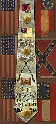 New 9th Arkansas Infantry Regiment poly satin neck tie