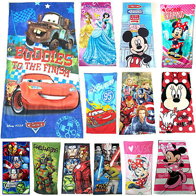 Children Kids Boy Girl Cotton Beach Bath Towel Cartoon Cute Minnie Cars Xmas