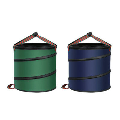 Pop Up Leaf Trash Can Gallon Easy Storage Case Collapsible Polyester Bags