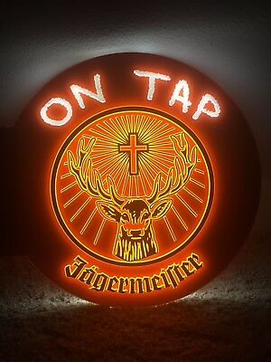 """Jagermeister Light Up Bar Sign 15"""" x 17"""" DOUBLE SIDED Rare MINT Brand NEW"""
