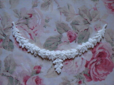 New! Shabby Chic Rose Floral Swag Furniture Applique Architectural