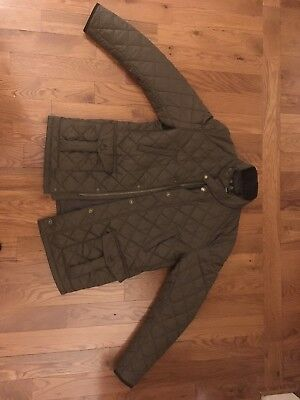 Barbour quilted jacket size large men's