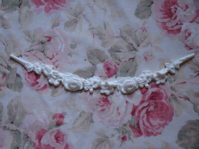 New! Shabby Chic Rose Floral Swag Garland Furniture Applique Architectural