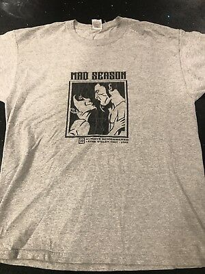 Alice In Chains Layne Staley Rare Vintage OOP Mad Season Shirt AIC Grunge
