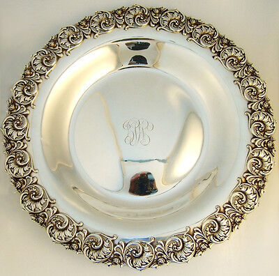 Floral Scroll Large Serving Dish Shreve and Company 1910 Sterling Silver