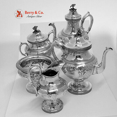 Large 5 Piece Tea and Coffee Set 950 Ball Black and Co New Yourk 1880