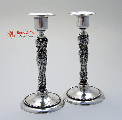 Figural Candlesticks Sterling Silver Wallace 1890