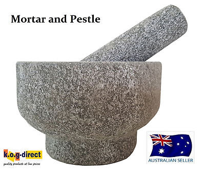 Fine Kitchen Solid Granite Mortar And Pestle For The Master Chef 15Cm Hw-210
