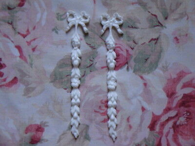 New! Shabby Chic Floral Drops Pair Furniture Applique Architectural