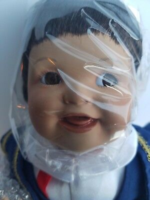"""""""miguel"""" 12"""" Porcelain Boy Doll Mexican Outfit Brown Hair And Eyes"""