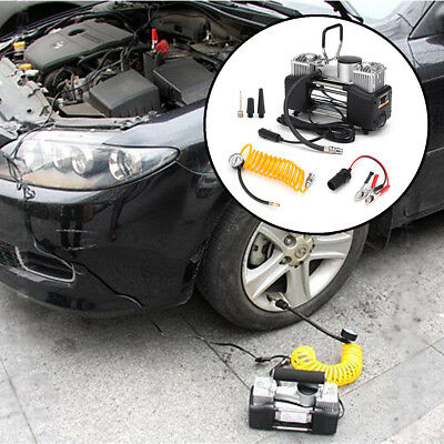 Car Air Pump Compressor Tire Tyre Inflator Heavy Duty Double Cylinder 12V 150PSI