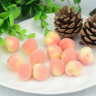 30pcs Mini Peach Foam Artificial Fake Fruit Vegetable Home Wedding Deco