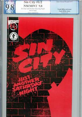 Sin City: Just Another Saturday Night #1/2, 9.8 NM/MINT, PGX Graded, Dark Horse