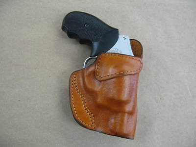 Charter Arms Bulldog Revolver Leather Clip On OWB Belt Concealment Holster TAN R