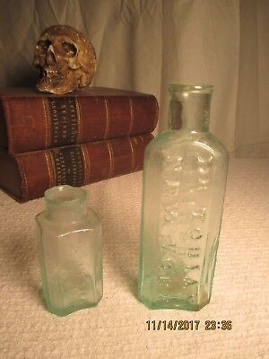 2 early medicine bottles Dr. Tobias Venetian Liniment, A. Trask's Magnetic