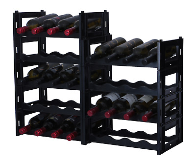 36 Bottle EZIRAK modular wine rack -FREE POSTAGE- NEXT DAY DISPATCH