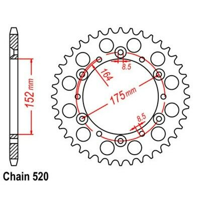 REAR SPROCKET 43 Tooth for Yamaha YZ400 1977 to 1979 | YZ400F 1998
