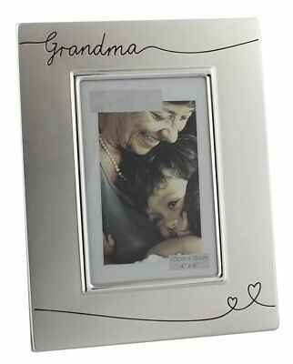 "Two Tone Silver Plated Grandma 4"" x 6"" Photo Frame by Haysom Interiors"