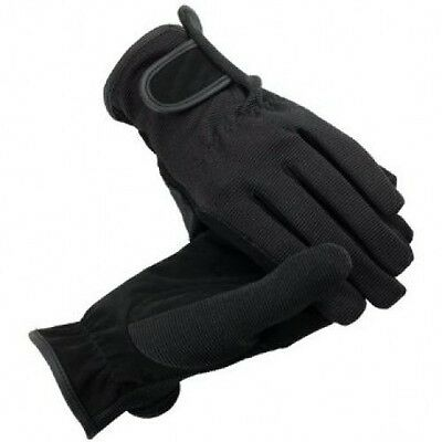 Horze Mutli Stretch Horse Riding Gloves - In Black  **NEW**