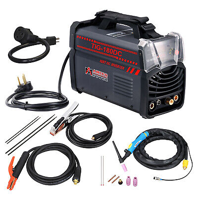 TIG-180DC 180 Amp TIG Torch/Stick/ARC DC Welder 230/110V Dual Voltage Welding