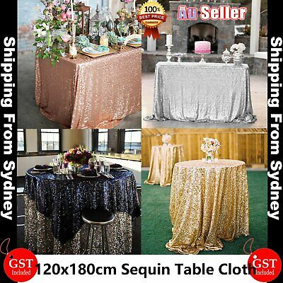 180x 120cm Sparkly Sequin Tablecloth Backdrop Wedding Party Table Cloth Decorati