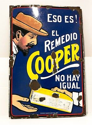 Cooper's Sheep Dip Enamel Sign Great Coopers Sign Nice Gloss