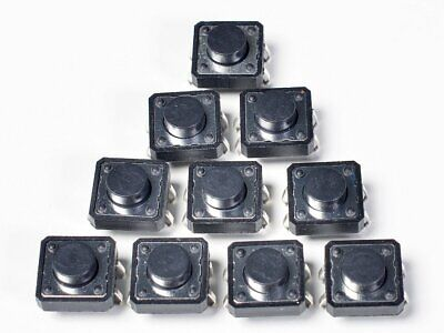 Adafruit Tactile Switch Buttons (12mm square, 6mm tall) x 10 pack AF1119