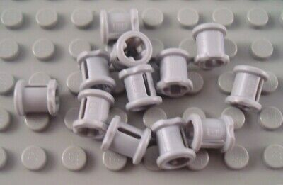New LEGO Lot of 12 Light Bluish Gray Technic Mindstorms Pin Connector Pieces