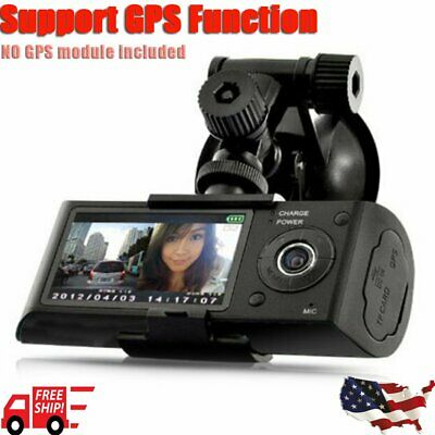 "2.7"" Dual Lens LCD Vehicle Car DVR Camera Video Recorder Dash Cam G-Sensor  B"