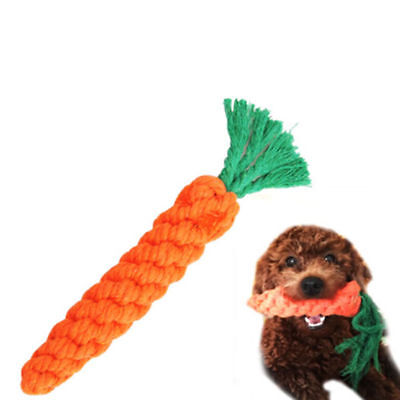 20cm Long Braided Cotton Rope Puppy Chew Toys Pet Dog/Cat/Rabbit Carrot Toy AU