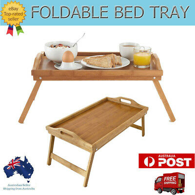 Foldable Breakfast Food Serving Serve Bed Tray Tea Coffee Table in Bed Gift AU