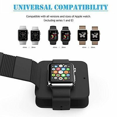 Apple Watch Silicone Wallet Case iWatch Series 1 2,Travel Charger Holder Stand