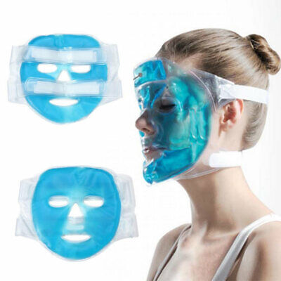 Headache Relief Full Face Mask Hot/Cold Soothing Relaxing Gel Filled Migraine