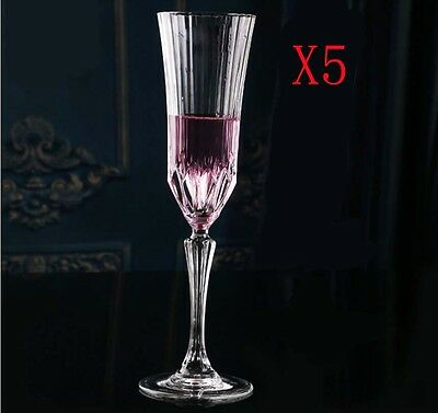 New 5X Capacity 180ML Height 247MM Creative Champagne Wine Glass/Glassware %